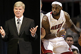 NCAA President Mark Emmert and Heat forward LeBron James are up for this week's Tool of the Week award. GETTY IMAGES